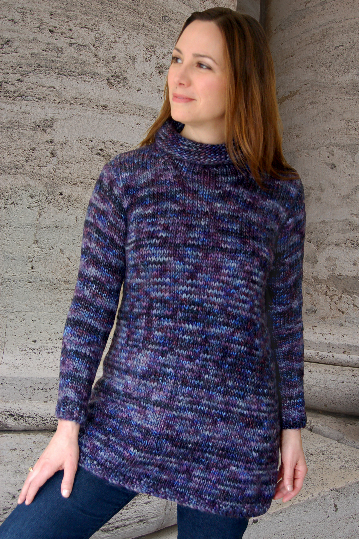 Swing Sweater to Knit - Dovetail Designs